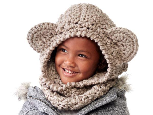 crochet CROCHET BEAR HOOD free pattern