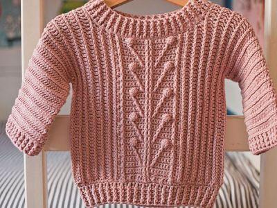 crochet Winter Garden Sweater easy pattern