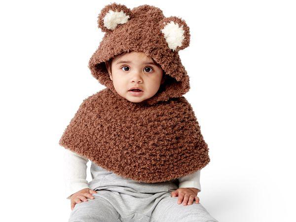 crochet BEAR CUB PONCHO free pattern
