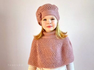 crochet New Amazing Hat and Cape easy pattern