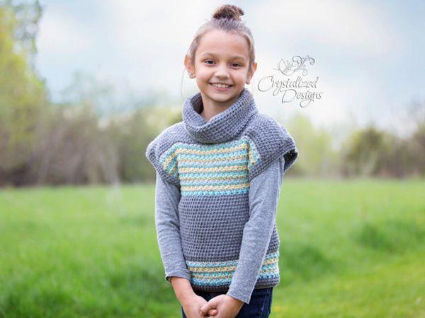 crochet Avalon Shore Pullover easy pattern