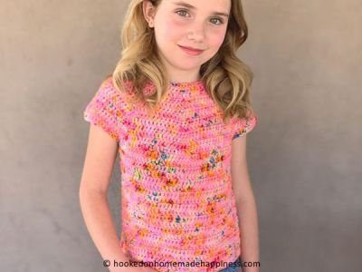 crochet Kids Basic Tee free pattern