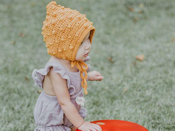 crochet Pixie Bonnet Hat easy pattern