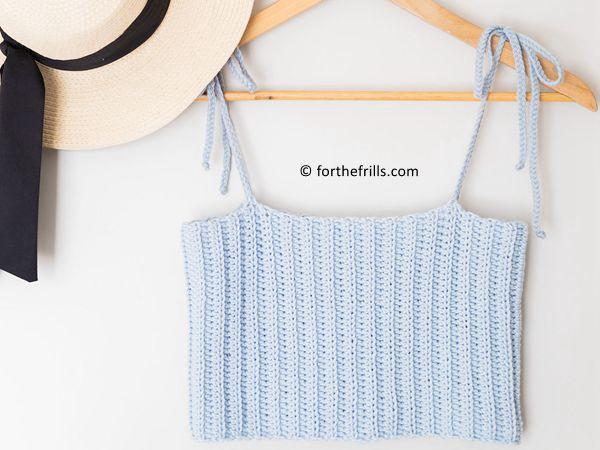 crochet Skylar Ribbed Crop Top free pattern