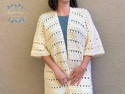 crochet Mid Summer Cardigan free pattern