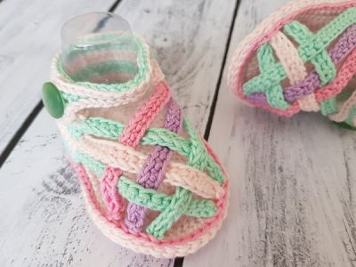 crochet Summer Baby Sandals easy pattern