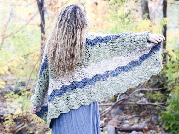 crochet Timber Shrug FREE Pattern