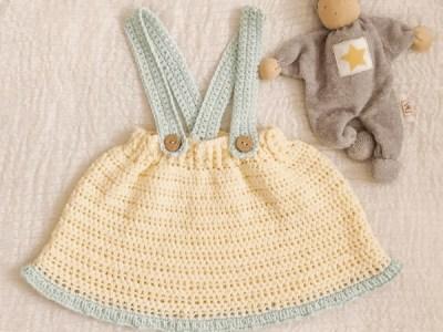 Crochet Skirt with Suspenders free pattern