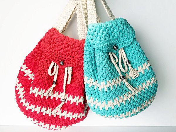 crochet Bohemian Backpack free pattern