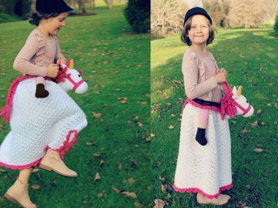 crochet Horsey Skirt easy pattern