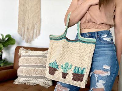 crochet Plant Lady Tote free pattern