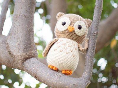 crochet Aldric the Lovely Owl easy pattern