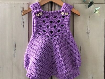 crochet May Baby Romper easy pattern