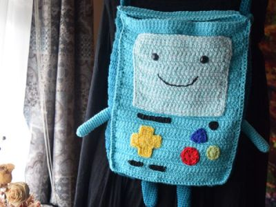 crochet Video Game Guy Backpack free pattern