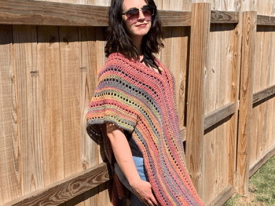 crochet Autumn Bliss Poncho free pattern