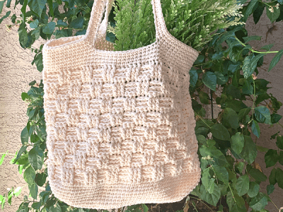 crochet Basketweave Market Bag free pattern