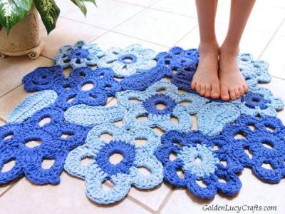 crochet Flower Rug free pattern