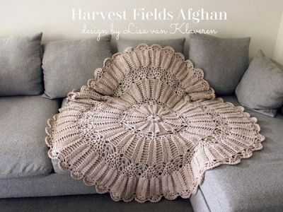 crochet Harvest Fields Afghan easy pattern
