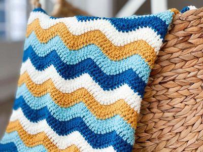crochet Ocean Waves Blanket free pattern