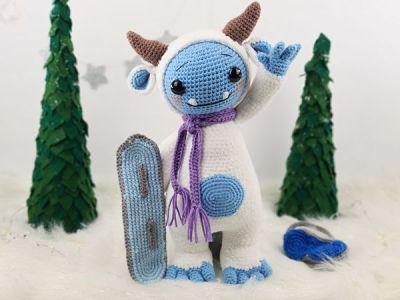crochet Shaun the Yeti Amigurumi free pattern