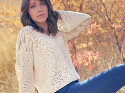 crochet Autumn Belle Sweater free pattern