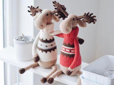 crochet Christmas Reindeer Elk Amigurumi easy pattern