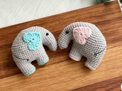 crochet Elephant Amigurumi easy pattern
