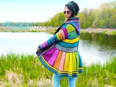 crochet Serged Dream Coat easy pattern