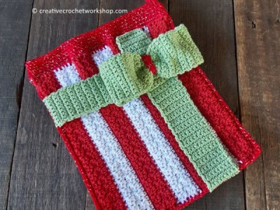 crochet Stocking Gift Bag free pattern