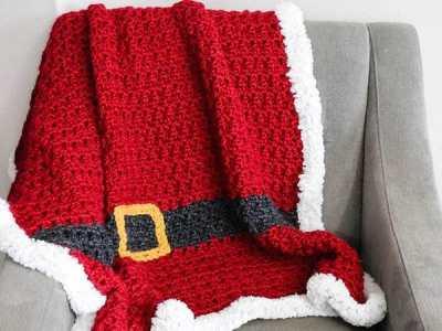 Crochet Santas Blanket free pattern