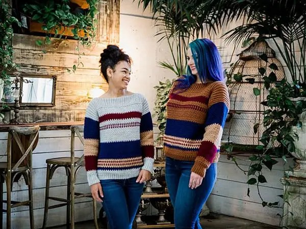 GINGERSNAP CROCHET PULLOVER SWEATER free pattern