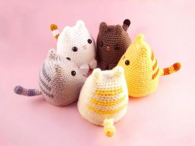 crochet Dumpling Kitty free pattern