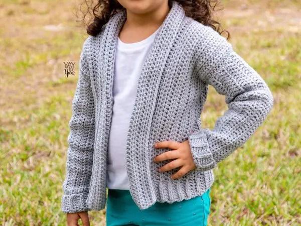 crochet Mini Cozy Cardigan free pattern