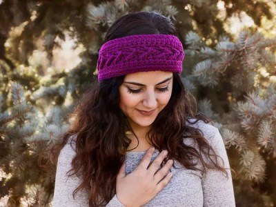 crochet The Slopes Headband free pattern