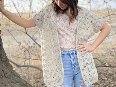 crochet Wild Bloom Cardigan free pattern