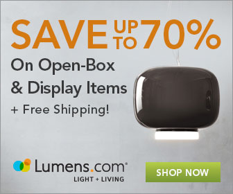OPENBOX: Take An EXTRA 15% OFF & Save Up to 70% On Open Box Lighting, at Lumens.com. Use Code: OPENBOX15. Sale runs 5/12-5/14