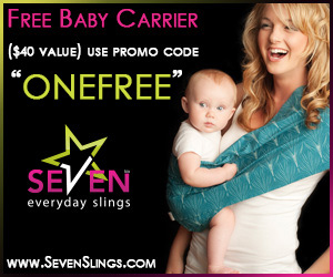 Free Baby Sling at sevenslings.com with Promo Code ONEFREE