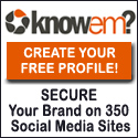 Sign up at knowem.com