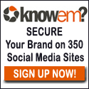 sign up at knowem.com
