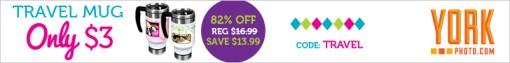 Custom Travel Mug - Just $3 - Save $13.99!