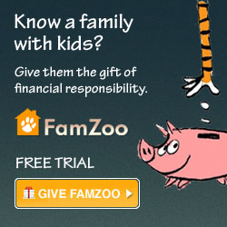 Know a family with kids? Give them a FamZoo gift subscription and help the parents teach their kids good money habits.