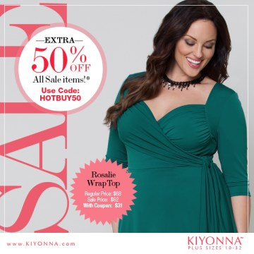 Save 50% on Kiyonna Sale Items