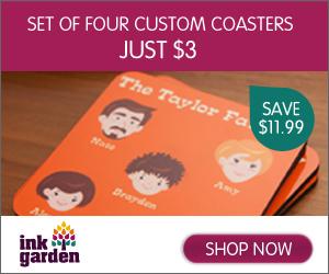 Four Custom Coasters - Just $3!