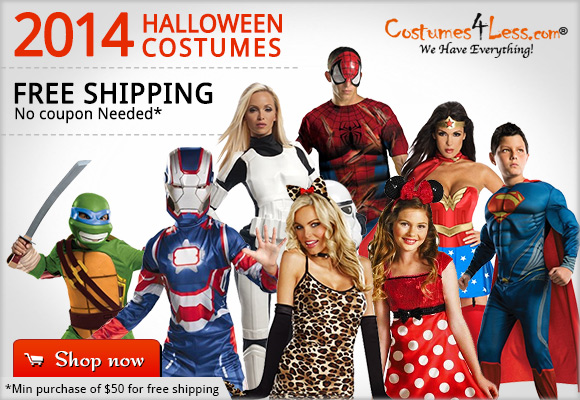 Halloween Costumes and Accessories. Free Shipping with no coupone needed