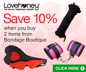 Get 10% off Bondage Boutique when you buy any 2 items