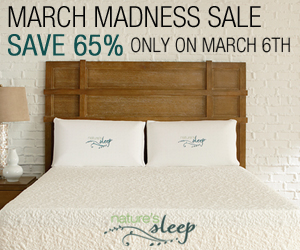 nature's sleep 65% off Coupon