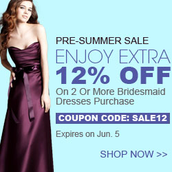 Pre-summer sales,Coupon for bridesmaid dresses@Didobridal.Coupon code:SALE12.