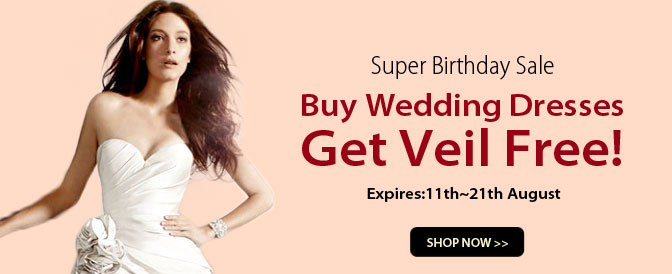 Buying Wedding Dresses, Get Extra Veil Free, Ends 12th, Aug