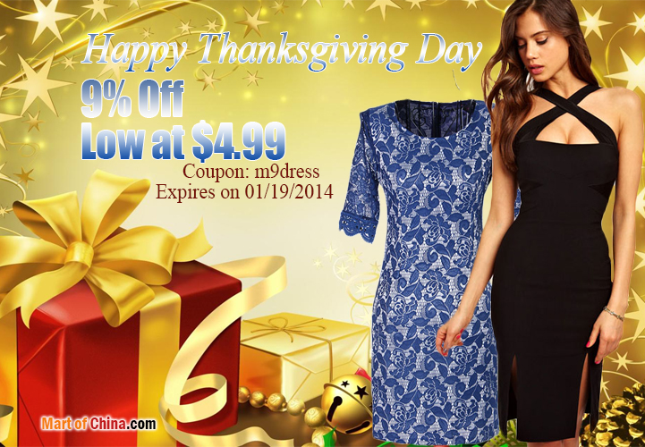 9% Off Dress Thanksgiving 721*500