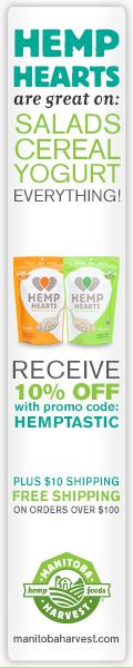 Hemp Hearts Taste Great! 10% off with promo code HEMPTASTIC www.manitobaharvest.com